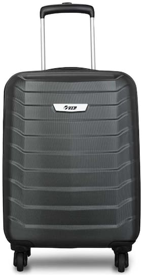 VIP Cabin Size Hard Luggage Bag - Black , 4 Wheels