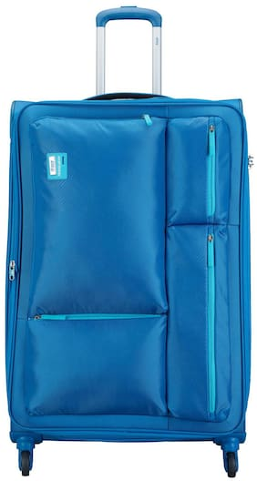 VIP Large Size Soft Luggage Bag ( Blue , 4 Wheels )