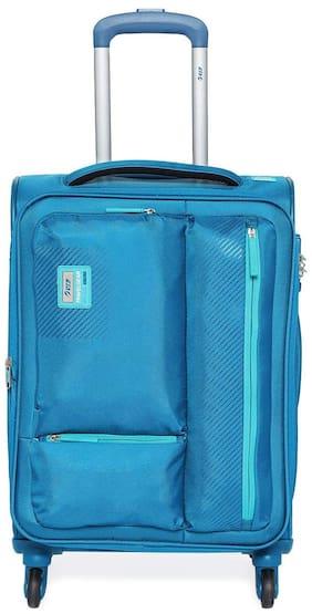 VIP Cabin Size Soft Luggage Bag ( Blue , 4 Wheels )