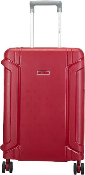 VIP Cabin Size Hard Luggage Bag ( Red , 4 Wheels )