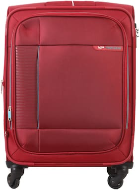 VIP Stratis Cabin Size Soft Luggage Bag ( Red , 4 Wheels )