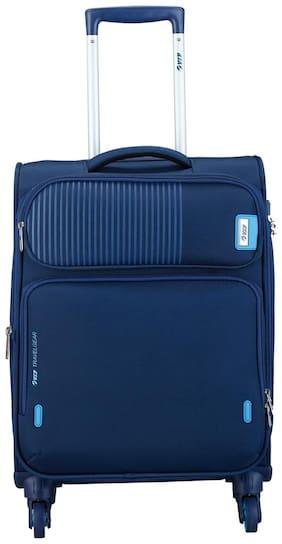VIP Cabin Size Soft Luggage Bag - Blue , 4 Wheels