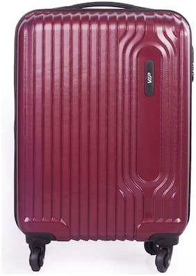 VIP Trace Cabin Size Hard Luggage Bag ( Maroon , 4 Wheels )