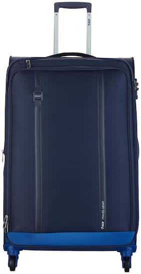 VIP Large Size Soft Luggage Bag ( Blue , 4 Wheels )