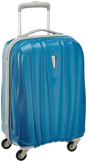 VIP Cabin Size Hard Luggage Bag - Blue , 4 Wheels