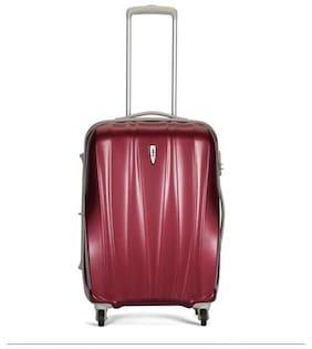 VIP Cabin Size Hard Luggage Bag ( Maroon , 4 Wheels )