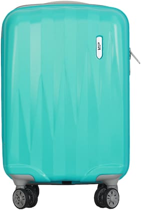 VIP Zapper Cabin Size Hard Luggage Bag ( Green , 4 Wheels )