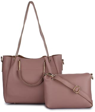 ee2f363b38 Buy Vogue Street Faux leather Women Handheld bag - Pink Online at ...