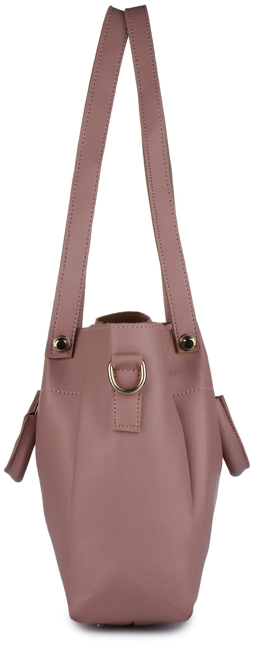 834982700d Buy Vogue Street Faux leather Women Handheld bag - Pink Online at Low  Prices in India - Paytmmall.com