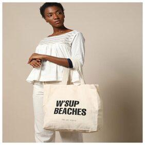 Fully Funky Women Canvas Tote Bag - Beige