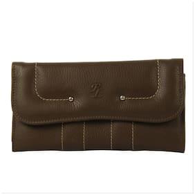Walletsnbags Women Brown Leather Wallet