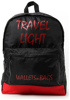 Walletsnbags Red And Black Backpack