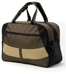 Walletsnbags Black And Brown Travel Bag