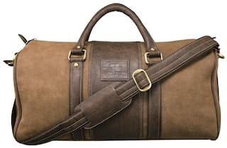 89432f1a73a Buy WALRUS Synthetic Men Duffle Bag - Brown Online at Low Prices in ...