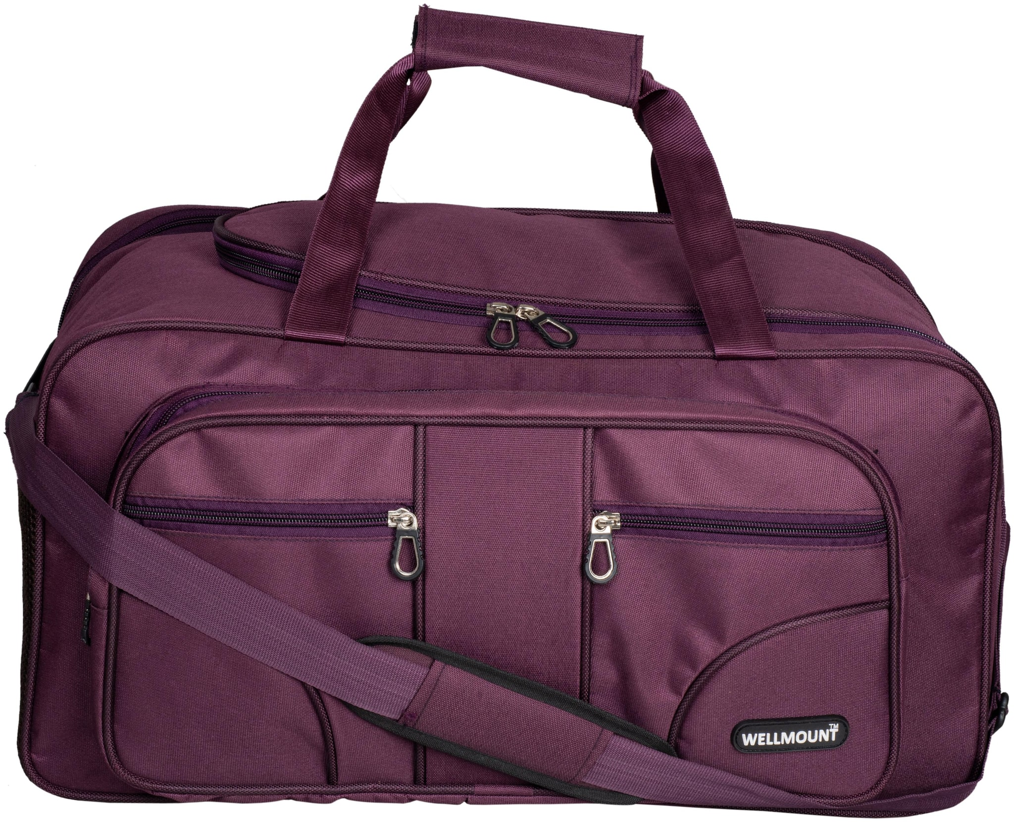 Wellmount  Expandable  Polyester Maroon 50 L Weekender Luggage/ Travel Duffel Bag for Men and Women