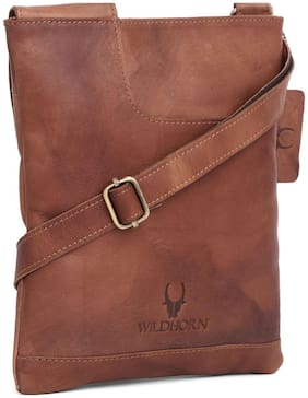 WildHorn 100 % Genuine Leather Messenger Bag