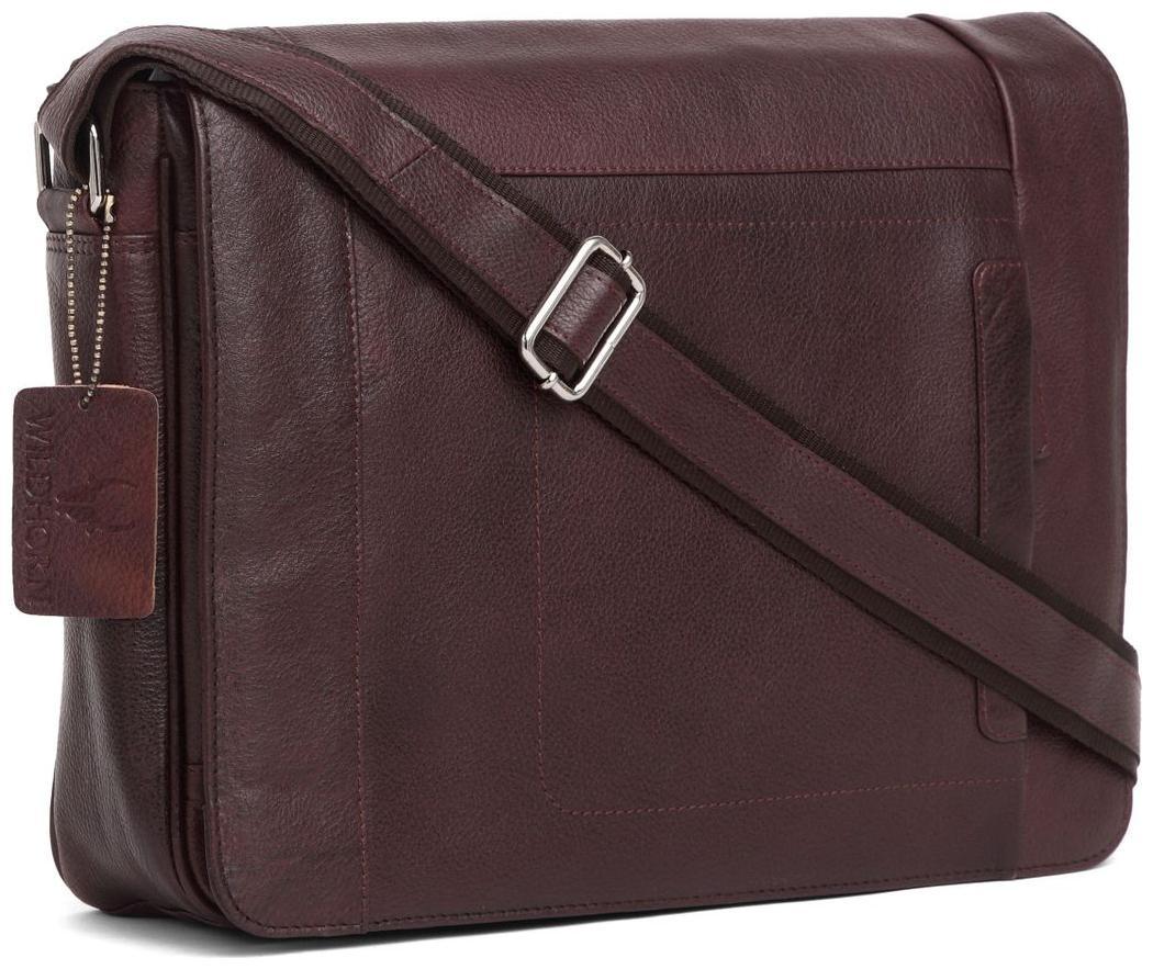 WildHorn 100 % Genuine Leather  40.64 cm  16 inch   Laptop Messenger Bag