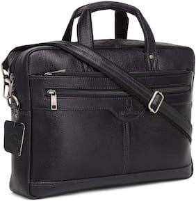 WildHorn Black Leather Sling bag
