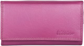 WildHorn RFID PROTECTED Genuine Leather Wallet for Women stylish|Purse for Women/Girls