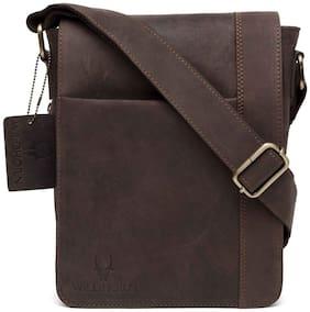 WildHorn Urban Edge 100% Genuine Hunter Leather Messenger Bag