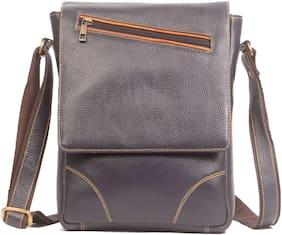 Wildmount Blue Leather Messenger bag