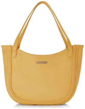 CAPRESE Yellow Faux Leather Satchel