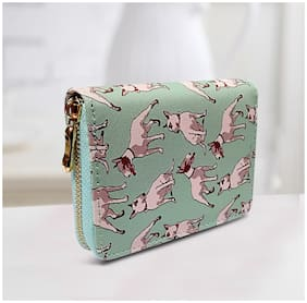 Women Wallet With Dog Print