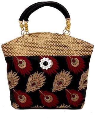 Kids Mandi Black Canvas Handheld Bag