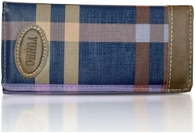 Women Blue Wallet With 8 Pockets