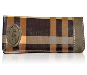 Women Brown Wallet With 8 Pockets