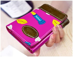 Women Pink Wallet With Pocket