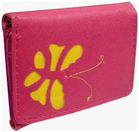 Women Butterfly Pink Mini Wallet