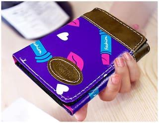 Women Purple Wallet With Pocket