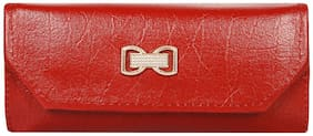 Wake Wood Women Red PU Wallet