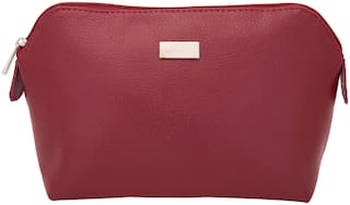 Yelloe Women Solid PU - Clutch Maroon