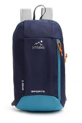 15L YUOCL Unisex Portable Canvas Backpack (Navyblue - 1 PC) 22x39x15cm
