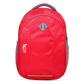 ZAmaizoom Red Waterproof Polyester Backpack