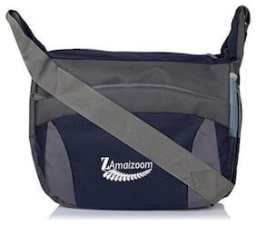ZAmaizoom Grey Polyester Sling bag