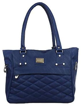 Zaxcer Blue PU Handheld Bag