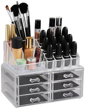 ZEVORA Cosmetic Organizer Makeup Storage Box Lipstick Holder Stand 16 Slot, 6 Drawer