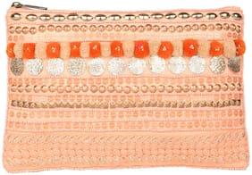 5-Elements Women Canvas Wallet - Orange