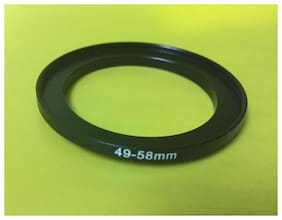 1 (ONE) ADAPTER RING 49mm to 58mm 49-58mm Step Up Filter Ring 49-58 BLACK METAL