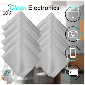 10 Pack Microfiber Cleaner Cleaning Cloths For Phone Screen Camera Lens Glasses