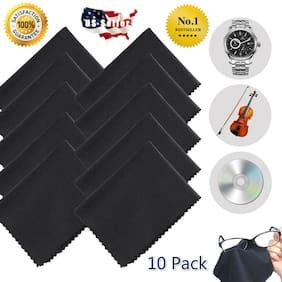 10 Pcs Microfiber Cleaning Cloth Camera Lens Glasses TV Phone LCD Screen Cleaner