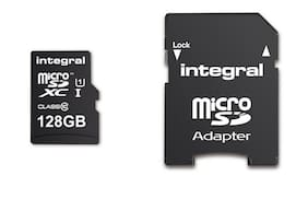 128GB Integral Ultima Pro microSDXC CL10 90MB/s High-Speed Memory Card w/Adapter