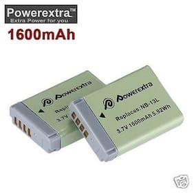 2-pack 1600mAh NB-13L Li-Ion Battery for Canon PowerShot G5X G7X G9X
