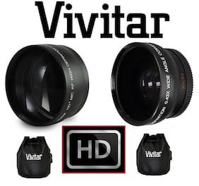 2-Pcs Hi Def Telephoto & Wide Angle Lens Kit For FujiFilm X-A3 X-A10