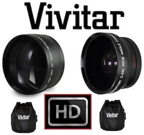 2-Pcs Hi Def Telephoto & Wide Angle Lens Kit For Olympus E-PL9 E-M10 lll E-PL8