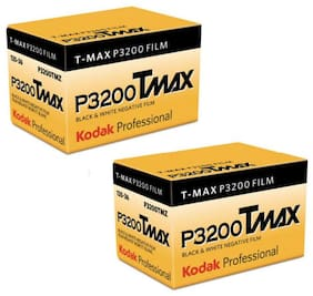 2 Rolls KODAK T-Max P3200 PRO TMZ 36exp 35mm B&W Black & White Negative Film US