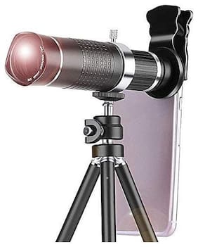 20X 4K HD Universal Zoom Mobile Phone Telescope Lens Telephoto External Smartphone Camera Lens with Tripod